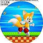 adesivo mini baleiro Kit Festa Sonic