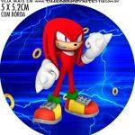 adesivo mini latinha Kit Festa Sonic