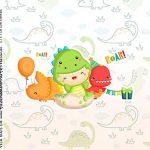 Adesivo Caixa Acrilica Kit Festa Dinossauro Baby