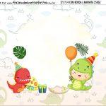 Adesivo Marmitinha Personalizada Kit Festa Dinossauro Baby