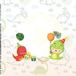 Adesivo Quadrado Dinossauro Baby