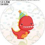 Adesivo copo de acrilico Kit Festa Dinossauro Baby