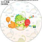 Adesivo redondo Dinossauro Baby