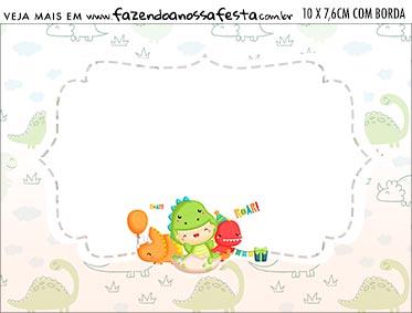 Aviso para Comida Dinossauro Baby