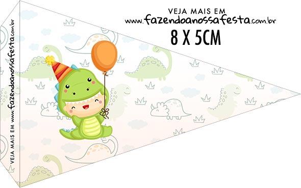 Bandeirinha Sanduiche personalizado Dinossauro Baby