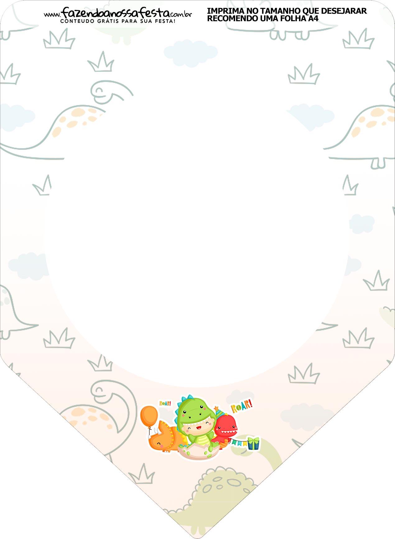 Bandeirinha Varalzinho Dinossauro Baby