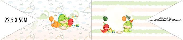 Bandeirinha de Dois Lados Dinossauro Baby