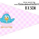 Bandeirinha para sanduiche Galinha Pintadinha Rosa