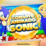 Convite Animado Sonic