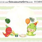 Plaquinha de Comida Dinossauro Baby
