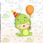 Rotulo Caixa Acrilica Dinossauro Baby