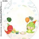Rotulo Oval Dinossauro Baby