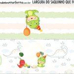 Rotulo Saquinho de Bala Dinossauro Baby