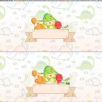 Saia de bolo Dinossauro Baby para imprimir