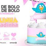 Topo de bolo e Saia Galinha Pintadinha Rosa