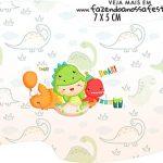 Topper Bandeirinha Dinossauro Baby