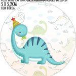 adesivo mini baleiro Kit Festa Dinossauro Baby