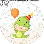 adesivo mini latinha Kit Festa Dinossauro Baby