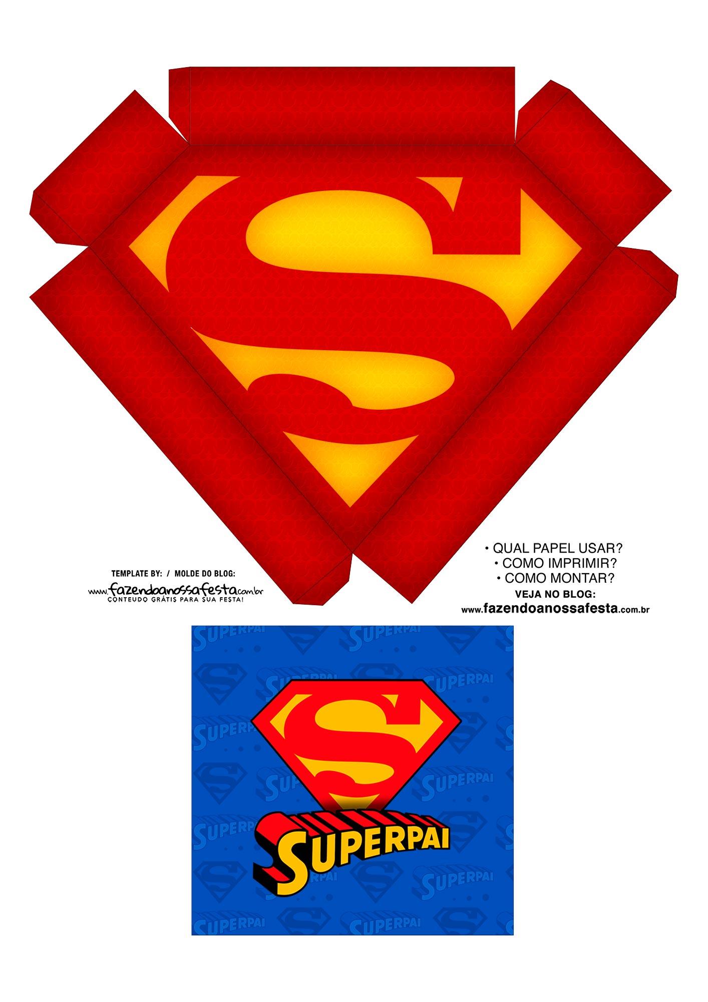 Caixa Explosao Super Pai molde 1