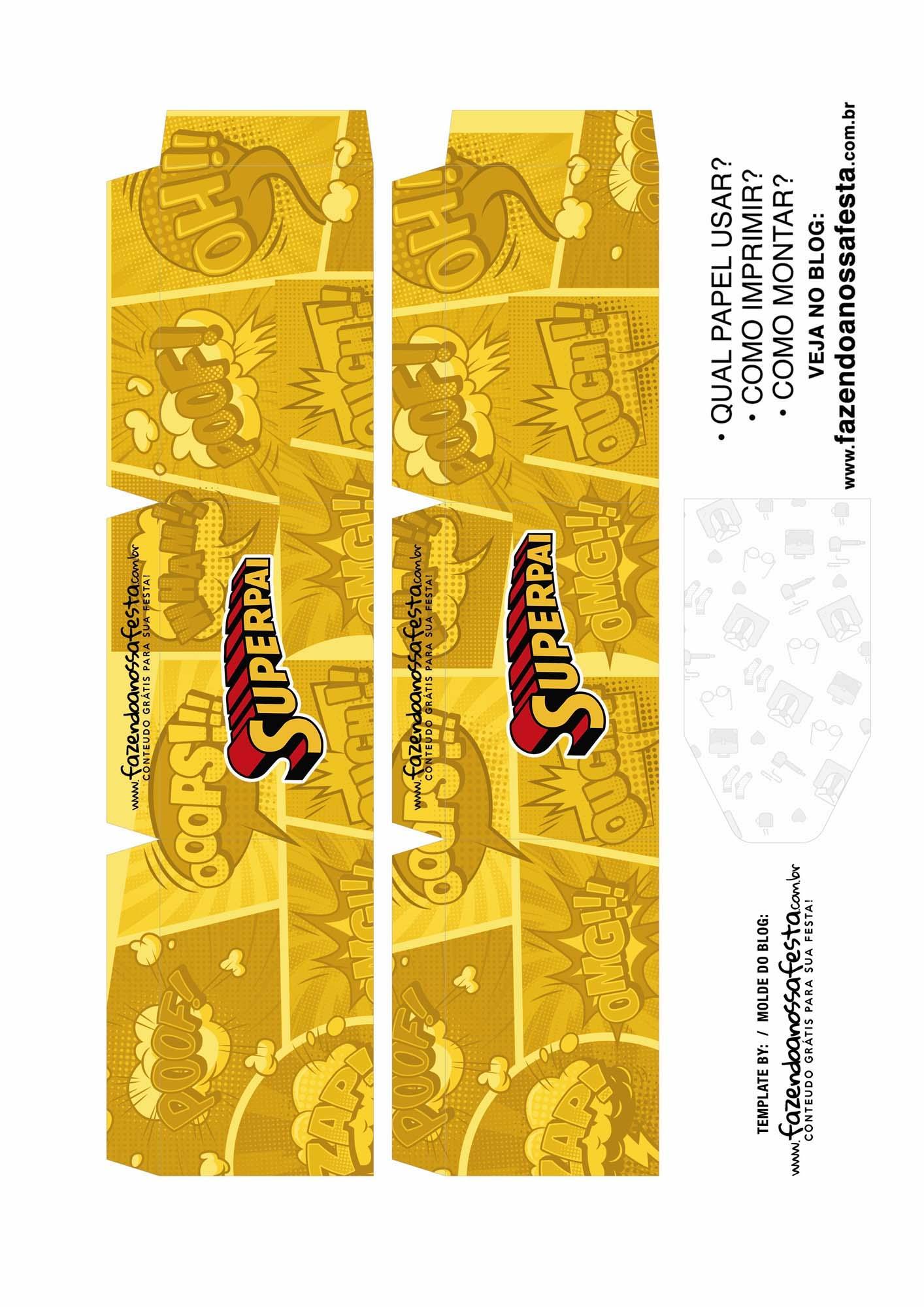 Caixa Explosiva Dia dos Pais Super Pai Amarelo 2
