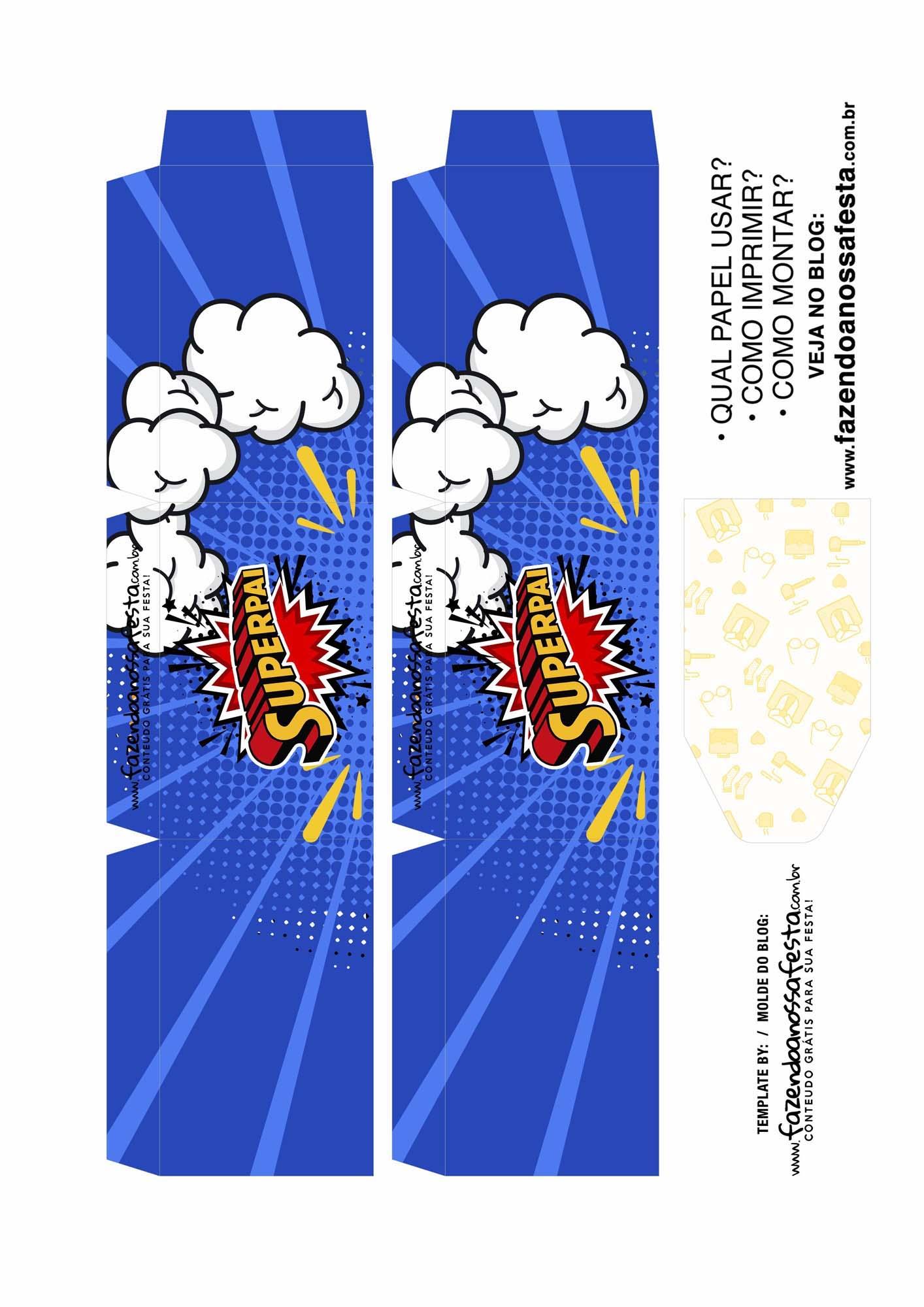 Caixa Explosiva Dia dos Pais Superpai 2