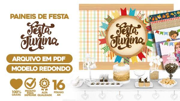 Painel Festa Junina para Imprimir PDF