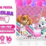 Painel Festa Patrulha Canina Rosa