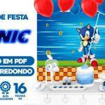 Painel Festa Sonic Gratis