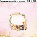Adesivo para Cofrinho Kit Festa Bosque Encantado Menina
