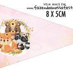Bandeirinha Sanduiche para imprimir Bosque Encantado Menina
