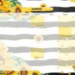 Calendario Mensal 2021 Girassol junho