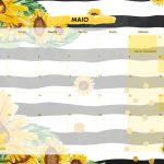 Calendario Mensal 2021 Girassol maio