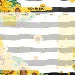 Calendario Mensal 2021 Girassol novembro