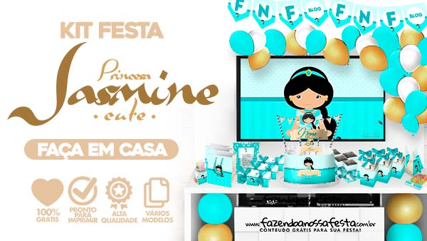 Kit Festa Jasmine Cute para imprimir
