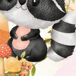 Painel Redondo Bosque Encantado Menina 11
