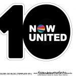 Topo de bolo Now United 5