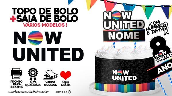 Topo de bolo Now United para imprimir