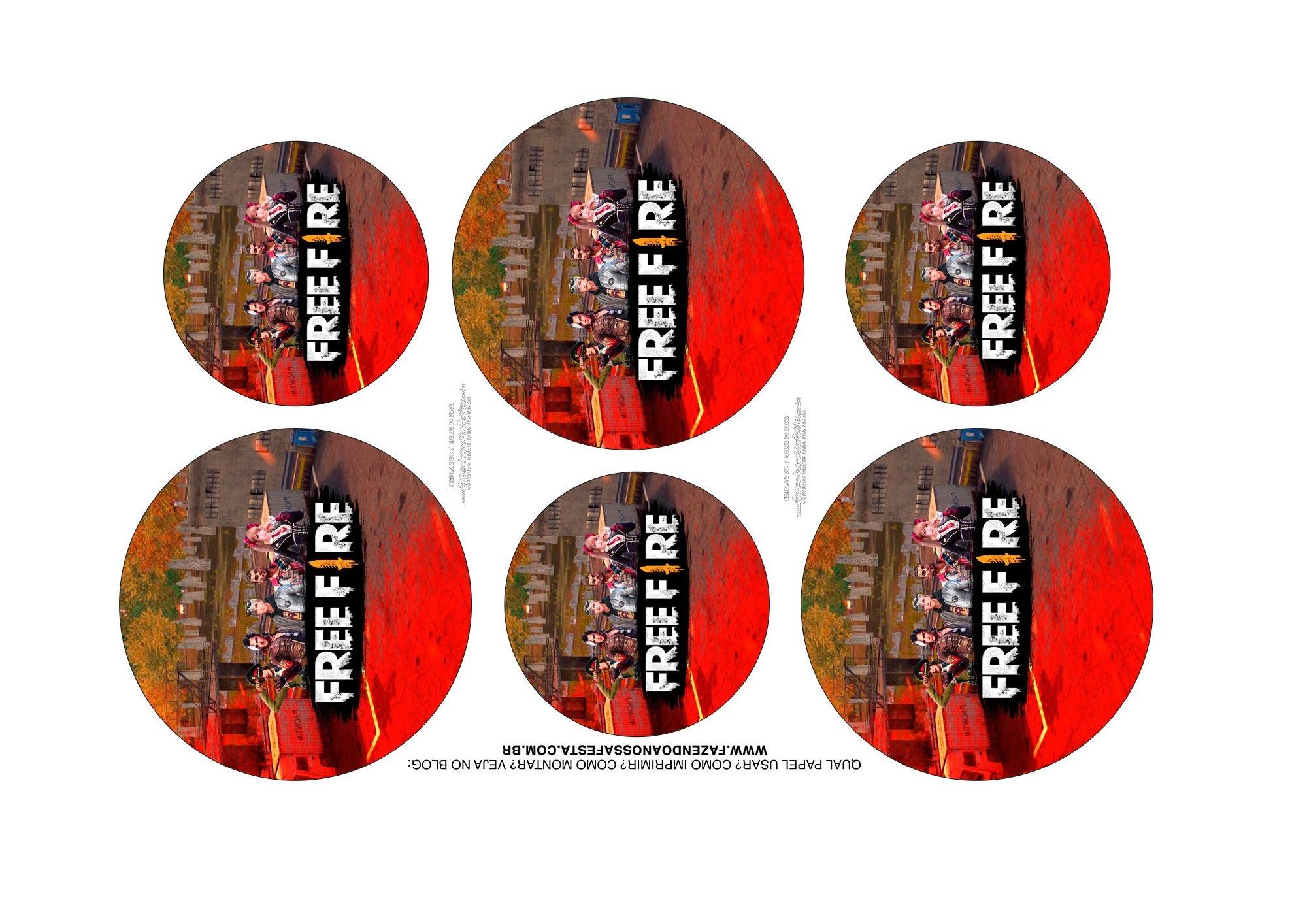 Adesivos Kit Cinema Free Fire 1