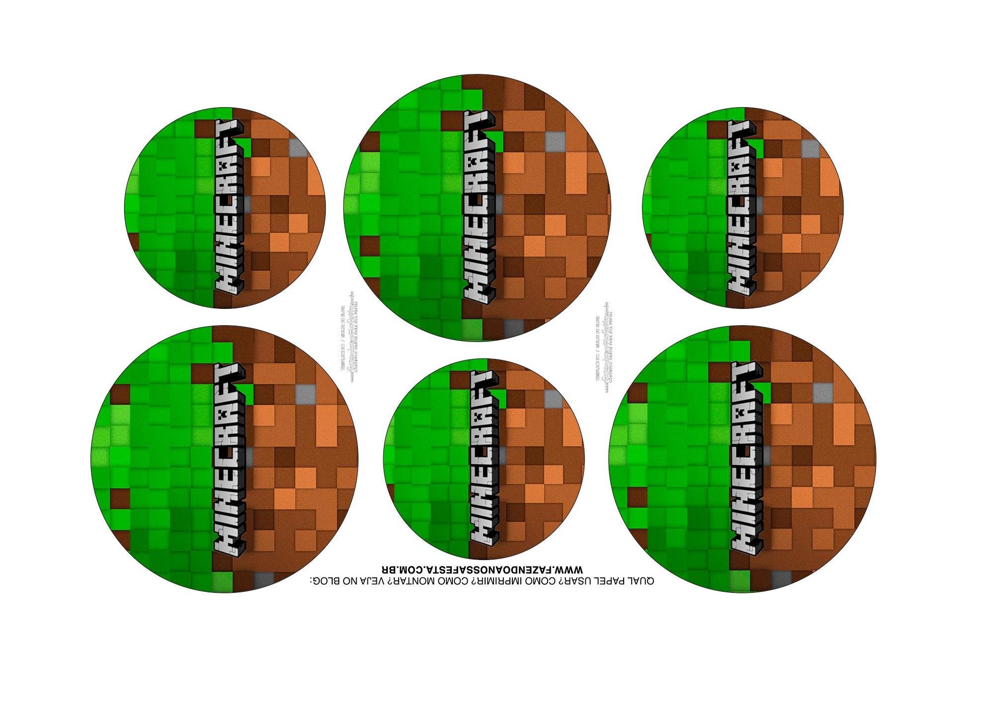 Adesivos Kit Cinema Minecraft 1