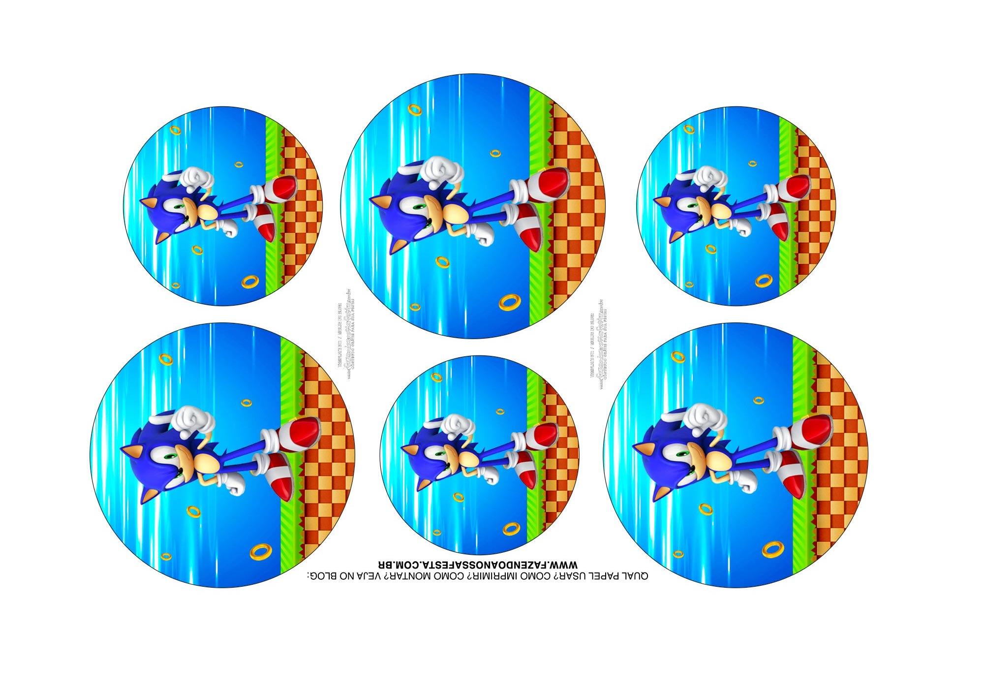 Adesivos Kit Cinema Sonic 1