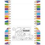 Caixa Brigadeiro Dia dos Professores para colorir