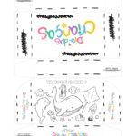 Caixa Dia das Criancas para colorir Fundo do Mar
