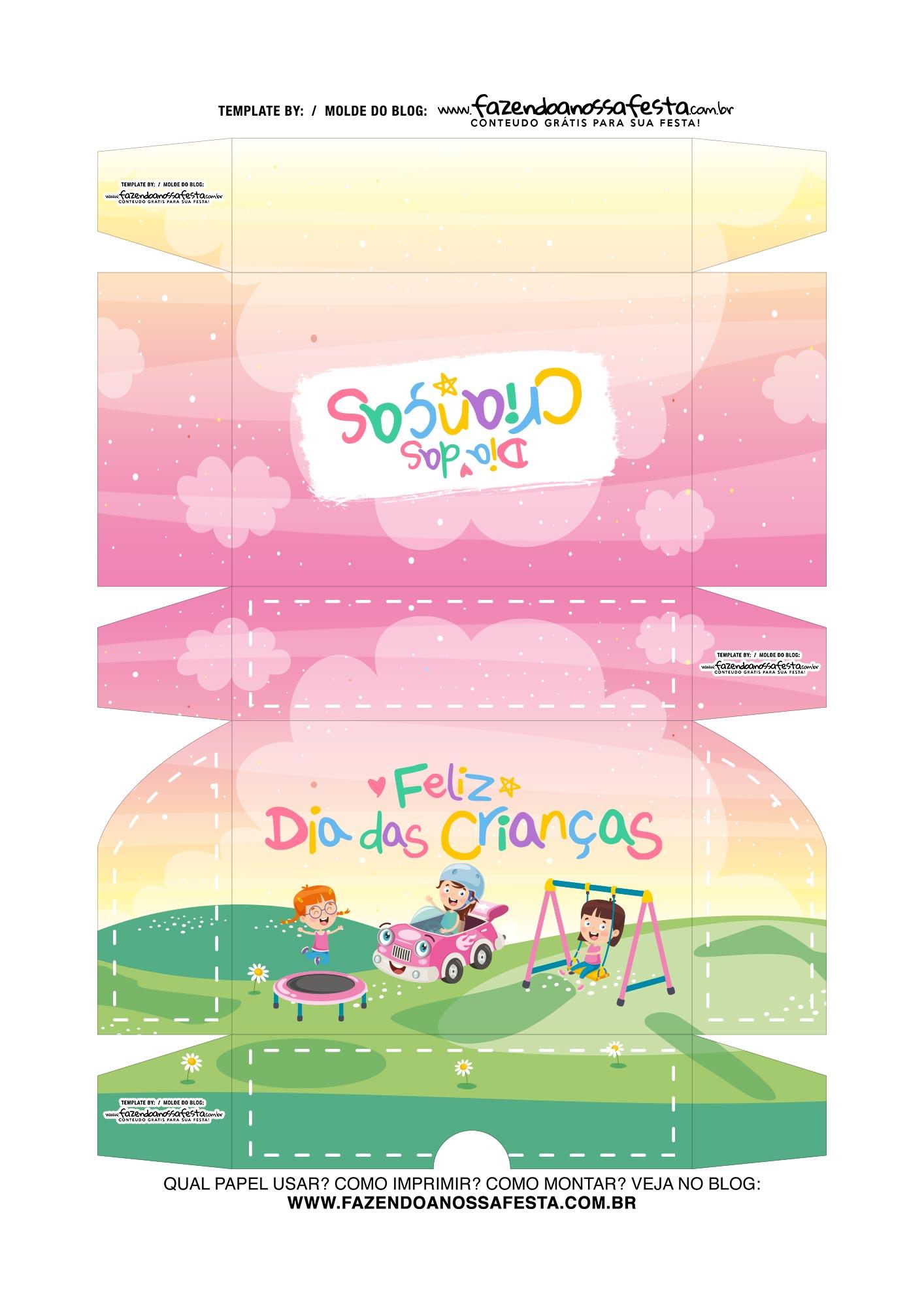 Caixa Dia das Criancas para doces 6