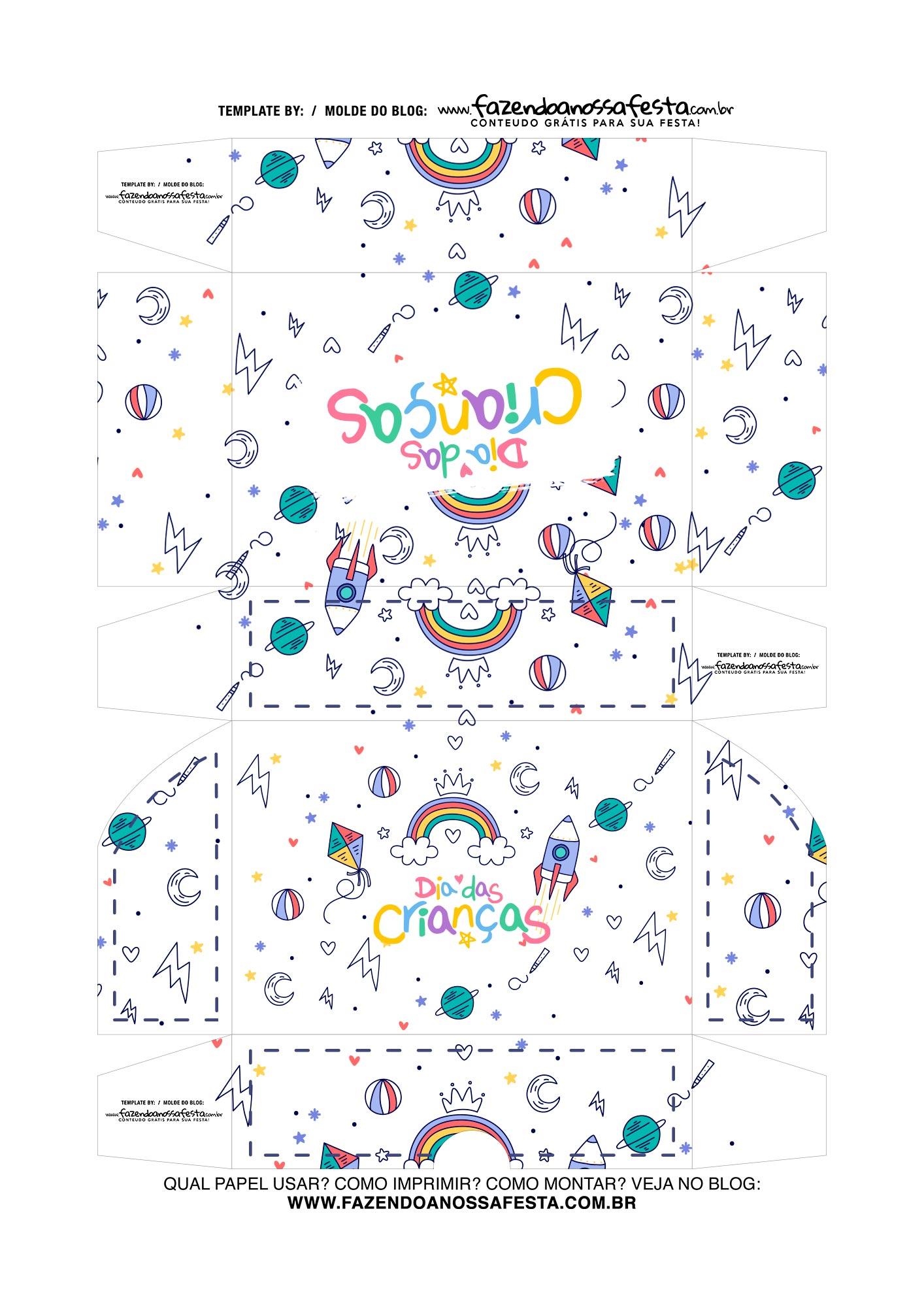 Caixa de Doces Dia das Criancas 2