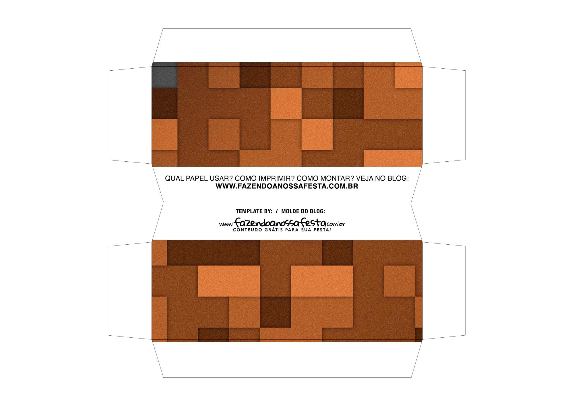 Kit Cineminha Minecraft Lateral 1