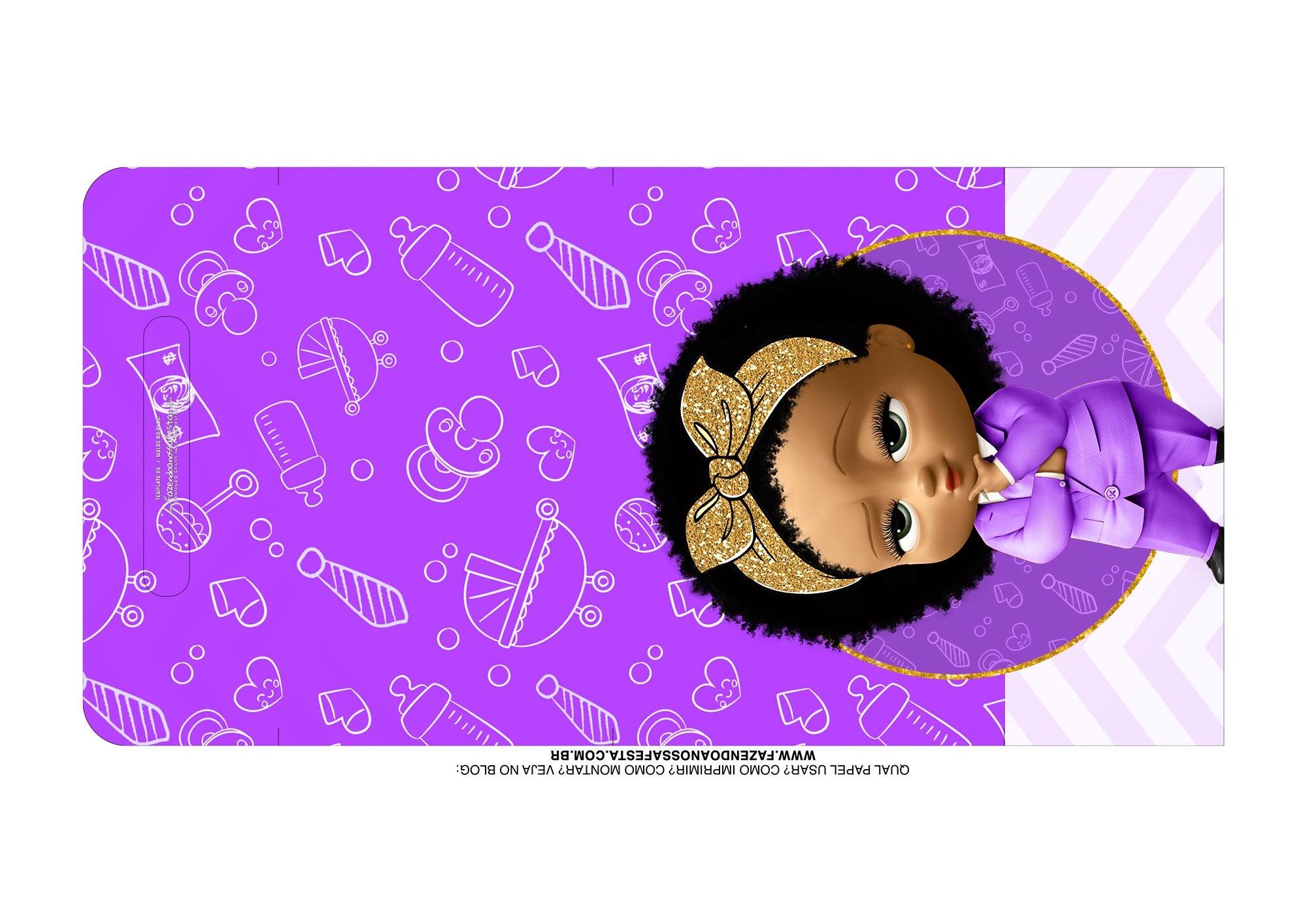 Molde Kit Cineminha Poderosa Chefinha Afro alca 1