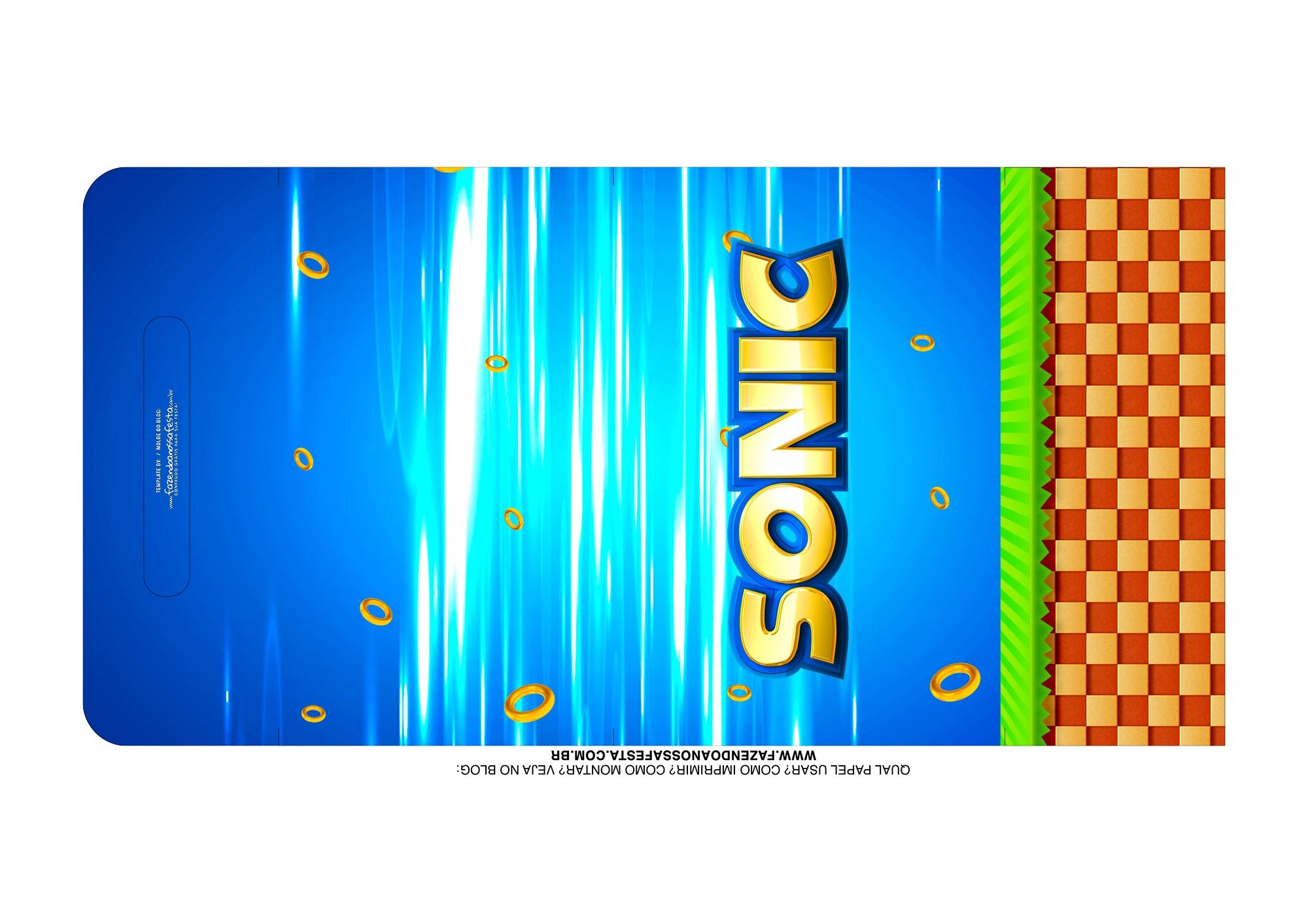 Molde Kit Cineminha Sonic alca 1