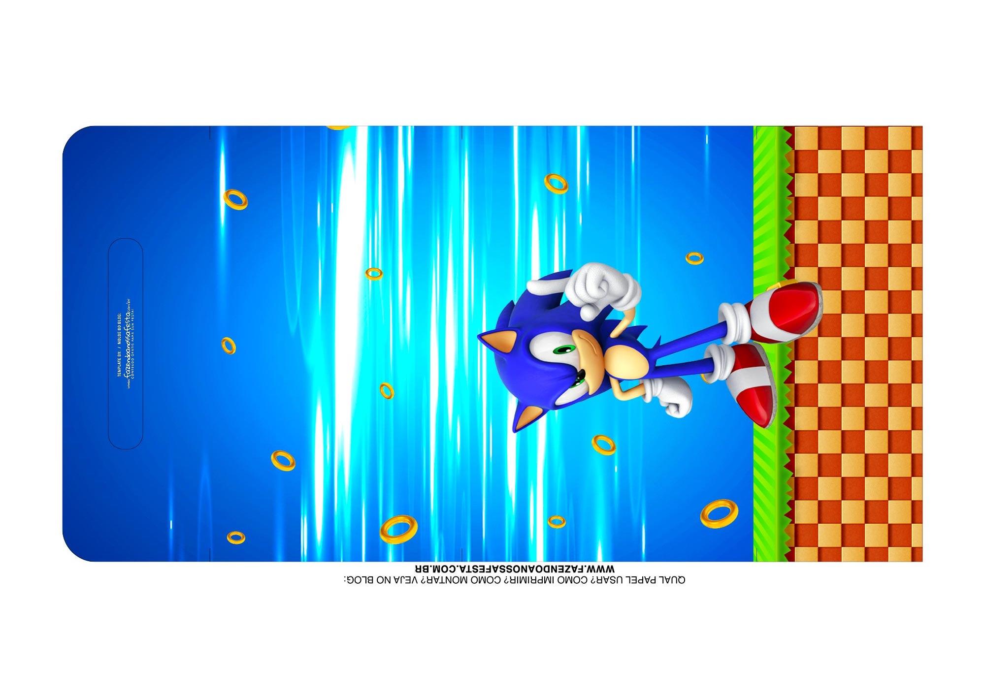 Molde Kit Cineminha Sonic alca 21