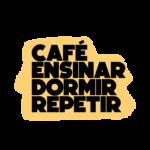 cafe ensinar dormir repetir estampa