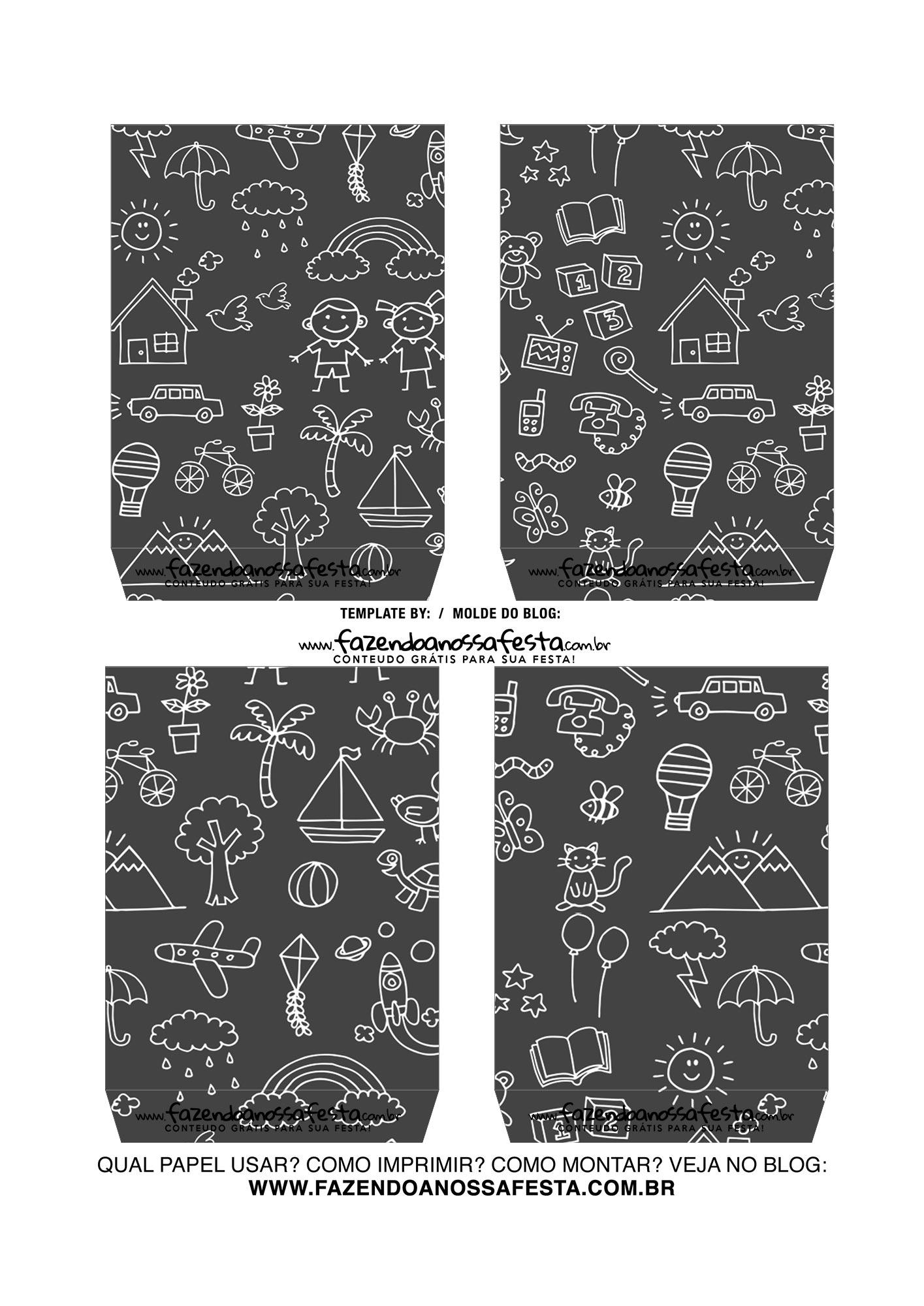 Caixa Explosiva Dia das Criancas Chalkboard 4